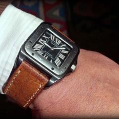 cartier santos sur bracelet montre ammo canotage