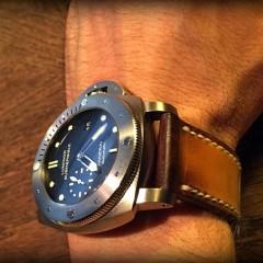panerai submersible sur bracelet montre orcade