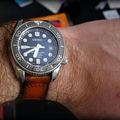 seiko marine master sur bracelet montre patiné