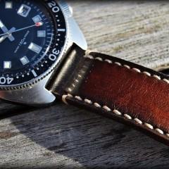 seiko 6105-8110 sur bracelet montre patiné Orcade