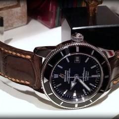 breitling superocéan sur bracelet montre alligator vanuatu