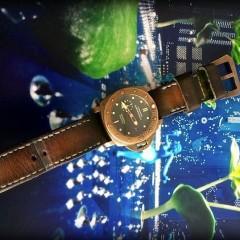 panerai 382 sur bracelet montre patiné