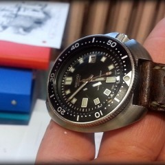 seiko 6105 sur bracelet montre ammo canotage