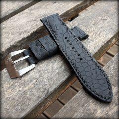 bracelet montre vanuatu noir gomme