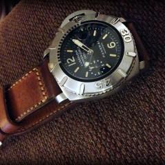 panerai 194 sur bracelet montre ammo vieilli
