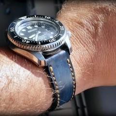 seiko marine master sur bracelet montre patiné anaho