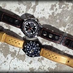 auricoste et tudor sur bracelets montres canotage rallye