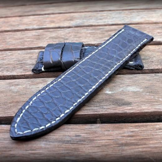 bracelet montre alligator vanuatu gris