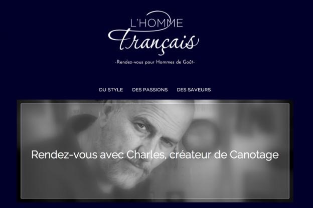 photo charles canotage pour l'homme français