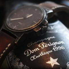 bracelet montre ligne patinée