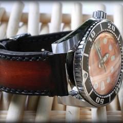 seiko sumo sur bracelet montre ligne patinée