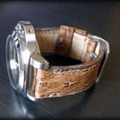 panerai sur bracelet autruche zanzibar