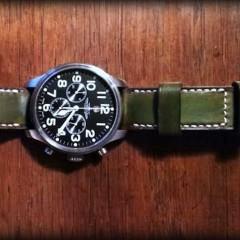 zeno sur bracelet montre patiné aran
