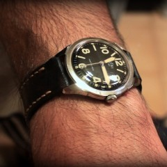 montre elgé sur bracelet montre black ammo