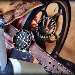 seiko skx 007 sur bracelet montre ammo vieilli