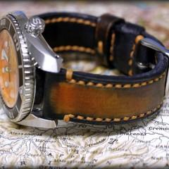 seiko sumo sur bracelet montre patiné canotage
