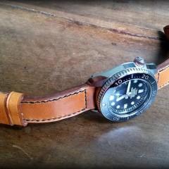 seiko marinemaster sur bracelet montre patinée ischia