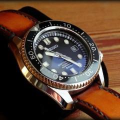 seiko marinemaster sur bracelet montre patinée soay