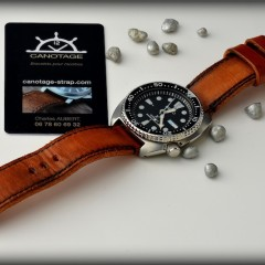 seiko turtle sur bracelet montre old ragged key
