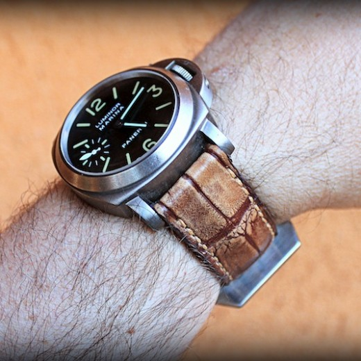 panerai 40 sur bracelet vanuatu vintage miel