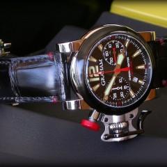 graham sur bracelet montre vanuatu noir