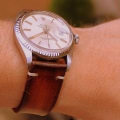 rolex datejust sur bracelet orcade canotage