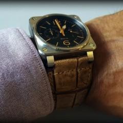 bell & ross sur bracelet vanuatu miel vintage
