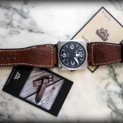 bell & ross sur strap ammo canotage