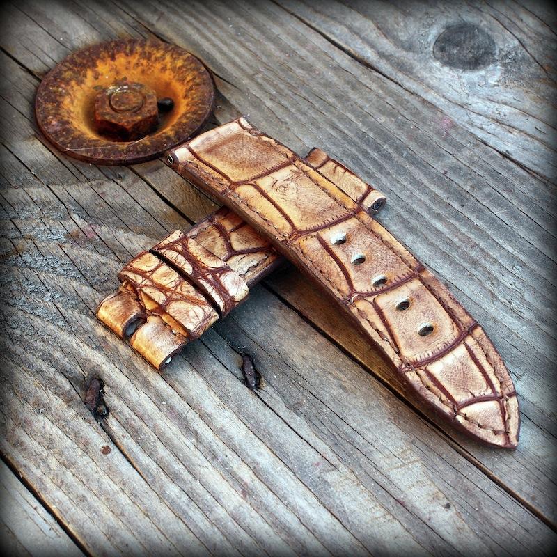 bracelet montre vanuatu miel vintage