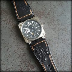 bell & ross et strap black ammo canotage