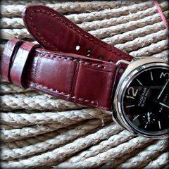 panerai radiomir sur bracelet montre Vanuatu rouge