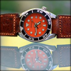 seiko sumo orange sur strap ammo