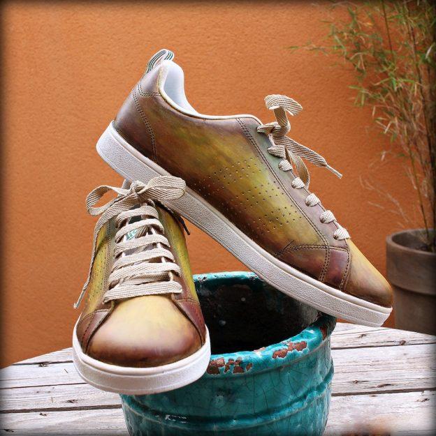 sneakers patinées